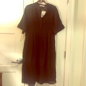 NWT Black Midi Zara Dress with Sleeves